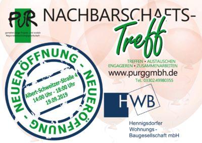 Eröffnung Nachbarschaftstreff Albert-Schweitzer-Quartier