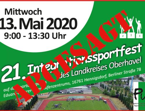 21. Integrationssportfest des Landkreises Oberhavel abgesagt
