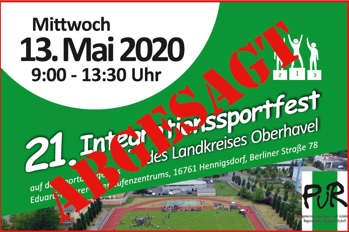 Absage Integrationssportfest