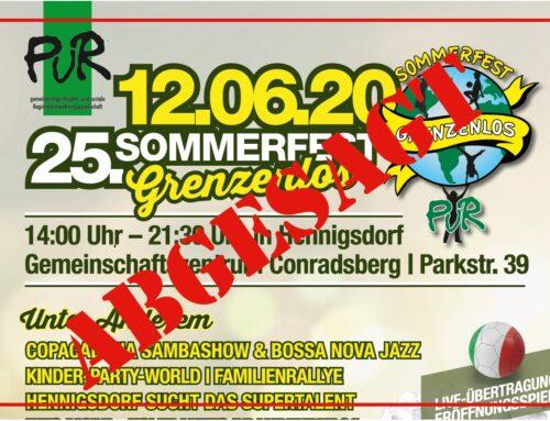 Sommerfest der PuR abgesagt