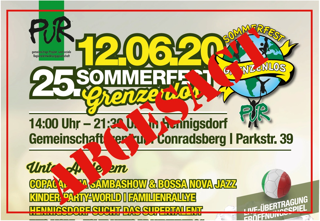 PuR Sommerfest abgesagt