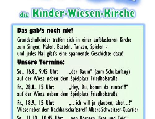 Kinder-Wiesen-Kirche mit Musik und Spiel