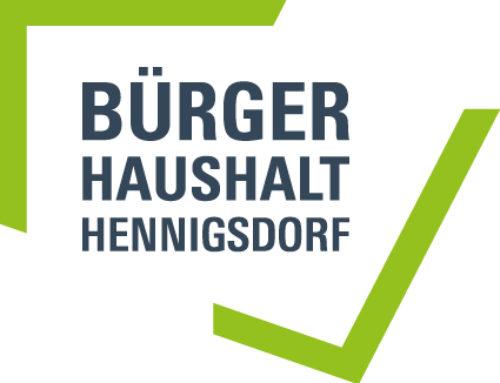 Ideen für den 5. Bürgerhaushalt der Stadt Hennigsdorf gesucht