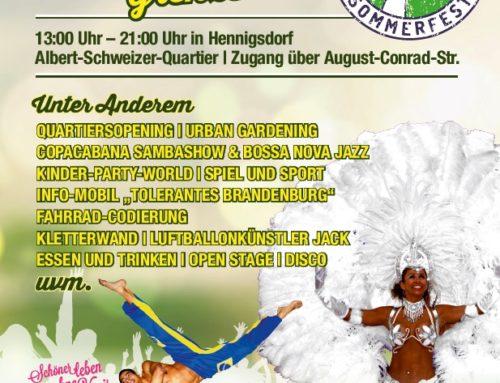 25. Sommerfest Grenzenlos am 17. September 2021